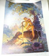 She of the Sword FANTASY Poster 1980 (22 x 28) Greg and Tim Hildebrandt SIGNED