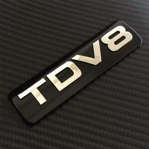 TDV8 BADGE RANGE ROVER SPORT VOGUE *BLACK/CHROME*REAR BOOT TAILGATE