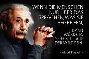 Albert Einstein Spruch 10 Blechschild Schild gewölbt Tin Sign 20 x 30 cm R0315