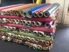 Pallet 180 Roll Ends Of Faux Leather Pvc Leatherette Vinyl Joblot diff colours