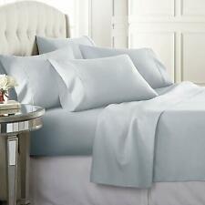 Premium 100% Cotton 300TC Solid Ice Blue Twin Size Bedsheet with 2 Pillow Covers