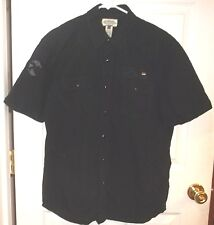 Mens AMERICAN RAG~BLACK SHIRT~size LARGE~NEW~Button Down Front NWOT
