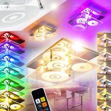 Deckenlampe Design RGB LED Farbwechsel Schlaf Wohn Zimmer Leuchten Fernbedienung