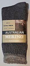 12 PRS LADIES SZ 2-8  GREY AUSTRALIAN MERINO THERMAL WORK SOCKS