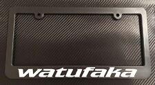 Watufaka - License Plate Frame Black - Choose Color! HI hawaiian aloha life jdm
