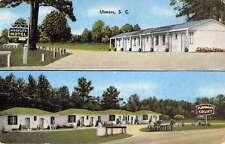 Ulmers South Carolina Multiview Street View Linen Antique Postcard K15194