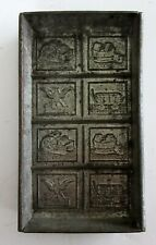 Vintage Antique Chocolate Candy Bar Mold Decorated Metal Tray Pan