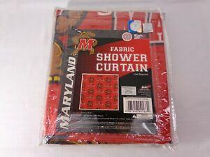 "New University of MARYLAND TERRAPINS Fabric Bathroom SHOWER CURTAIN 72""x 72"" NIP"