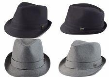 Big size Mens Plain Classic Fedora Trilby Soft Hat Hat XL(60cm), XXL(62cm) Gray