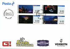 Faroe Islands Faroes 2016 FDC Music Festivals Franking Labels 4v Cover Stamps