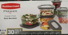 Rubbermaid Premier Food Storage Container 30 Piece Set - Grey