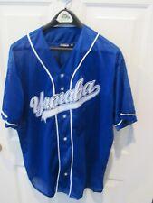 Official YAMAHA Logo Blue Short Sleeve mesh baseball jersey size men's 2XL