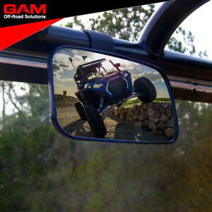Rear View Mirror UTV Center Mirror Fits Polaris RZR Ranger Can am Kawasaki SXS