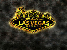 Las  Welcome Willkommen Schild sign no Neon Neonreklame Leuchtschild Vegas