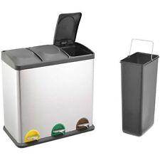 Müll- & Abfalleimer mit Trennfächer 60 L