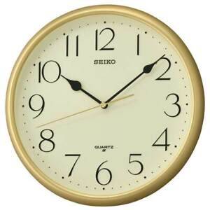 NEW Seiko Myra Gold Wall Clock, 28cm