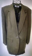 Anne Klein 3 Piece Dark Green Silk Pant Suit -Size 12 with Skirt, Item #134