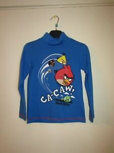 boys kids angry birds t shirt top light blue world book day age 5 6 7 8 10 12