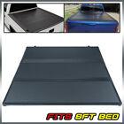 8' Long Bed Lock Hard Tri-fold Tonneau Cover Fit For Chevy/GMC Silverado 07-2013