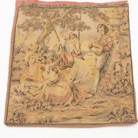 """Antique French Tapestry Jacquard Woven Vintage Tapestry 9-1/2""""x10"""""""