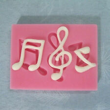 Musical Note Silicone Fondant Mold Cake Sugarcraft Decorating Chocolate MouldB&H