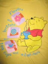 "Disney WINNIE THE POOH ""Flowers & Buttons & Tea Cups & What Nots"" (SM) T-Shirt"
