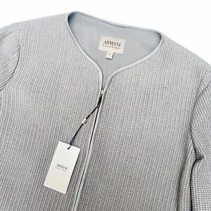 ⭐️ ARMANI COLLEZIONI Luxury Grey Zipped Jacket- UK 14/EU 46 (L)