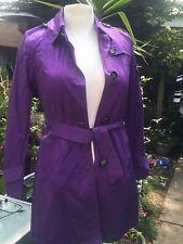 Ladies Purple Mac Style Coat CENTIGRADE  Qvc Bnwt . Smart & Stylish  Uk 6  8 ☂️