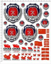 Self Adhesive Sticker decal CHINA FIRE SERVICES for model kits 20306