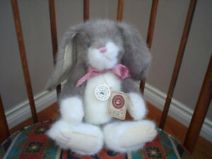 Boyds Bunny Rabbit Plush Jointed Keefer Lightfoot Retired 13 Inch