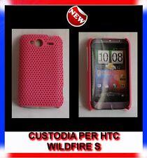 Custodia COVER+Pellicola MESH HOT PINK per HTC WILDFIRE S G13