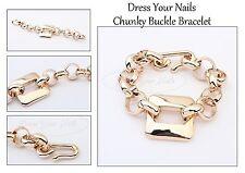 Chunky Buckle Chain - Gold coloured Bracelet Wrist