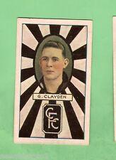1933/34  COLLINGWOOD  TURF  CIGARETTE  CARD  #21  G. CLAYDEN