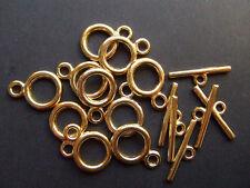 3 set chiusure AT colore oro  x bracciale,collana bigiotteria