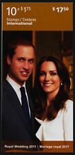 Canada 2467a Booklet MNH Royal Wedding, Kate & William