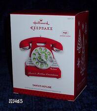 2013 Hallmark SANTA'S HOTLINE Telephone MAGIC Countdown Ornament Sound & Motion