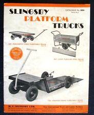 SLINGSBY PLATFORM TRUCKS CATALOGUE c 1955 VINTAGE