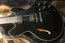 MINT 2020 Gibson ES335 Dot Gloss Ebony Finish Unplayed OHSC SAVE Original Case