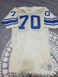 Chris Gambol Keith Dorney Detroit Lions Game Worn Used Sand Knit #70 Jersey VTG