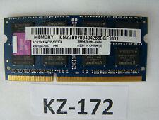 2gb Kingston acr256x64d3s1333c9 pc3-10600 ddr3 1333 MHz 2rx8 #kz-172