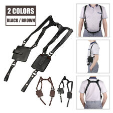 LEATHER ANTI-THEFT HIDDEN UNDERARM HOLSTER STYLE SHOULDER WALLET PHONE BAGS