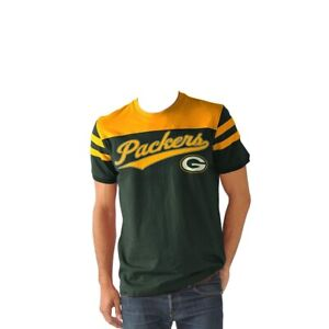 Green Bay Packers Men's Throwback Jersey Style Fashion T-shirt (XXL)
