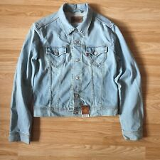 BNWT LEVI Red Tab Denim Jacket Girls Women Size L - 99p START