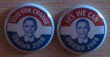 2 Campaign Buttons Barack Obama 2008