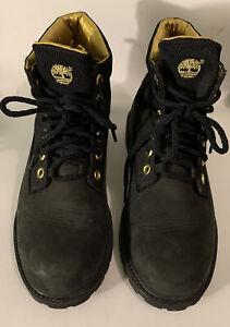 Timberland Men's Hiker Black/Gold Hiking Boots - Size 6