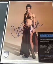 Star Wars Signed 11x14 Carrie Fisher Official Pix OPX Autographed Slave Leia