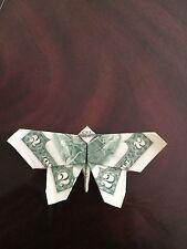 $2 Bill Money Origami Butterfly - Dollar Bill Art - Made with $2.00 Cash
