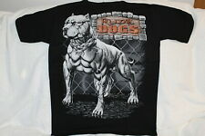 RUDE DOGS PITBULL CHAIN SKULL FENCE T-SHIRT SHIRT