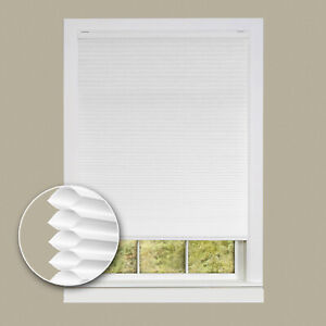 Cordless Cellular Honeycomb Pleated Shades 3/8-Inch Light Filtering Cell Shade