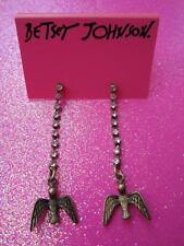 Betsey Johnson Flying Bird Dangle Earrings